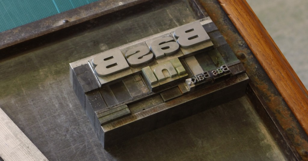 A type used to create BasB.nl business cards
